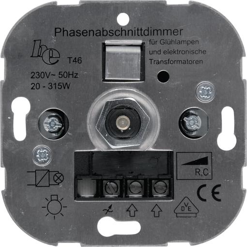 Elektronischer Phasen-Abschnittsdimmer mit Wechselschalter 20 – 315 VA